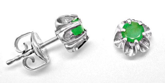 Foto 1, Brillant-Smaragd-Anh.Und Ohrstecker Luxus Neu Portofrei, S8569