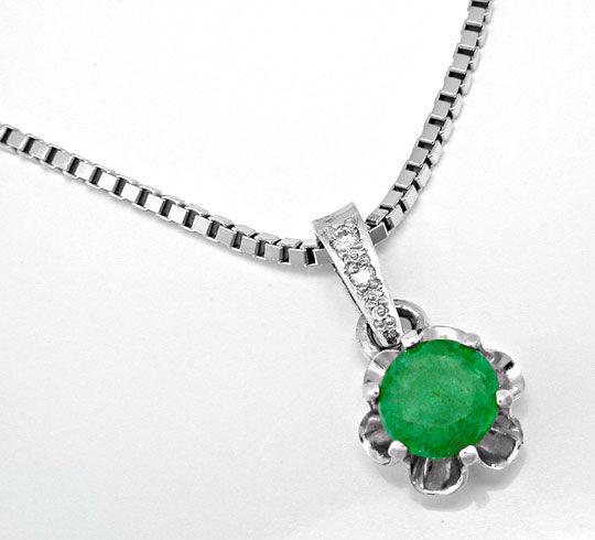 Foto 2, Brillant-Smaragd-Anh.Und Ohrstecker Luxus Neu Portofrei, S8569
