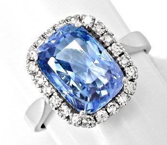 Foto 1, Neu! Riesen-Traum-Safir im Diamant-Ring Luxus Portofrei, S8585