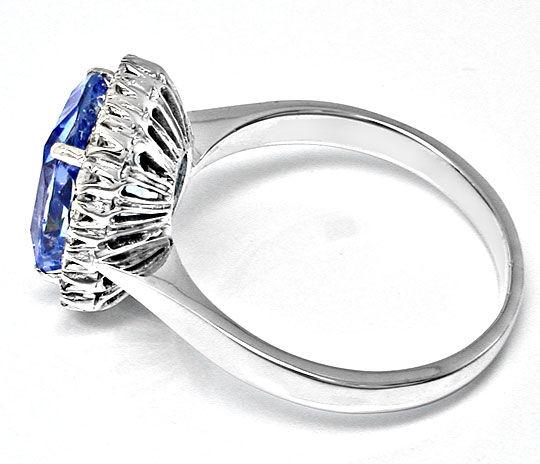 Foto 3, Neu! Riesen-Traum-Safir im Diamant-Ring Luxus Portofrei, S8585