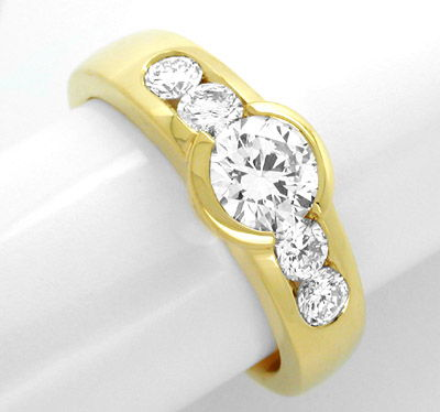Foto 1, Neu! Supertop Brillant-Ring Lupenrein Schmuck Portofrei, S8586