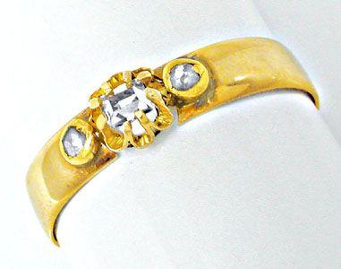 Foto 1, Echt antiker Uralter Diamant-Ring 14K Toperhaltung Shop, S8593