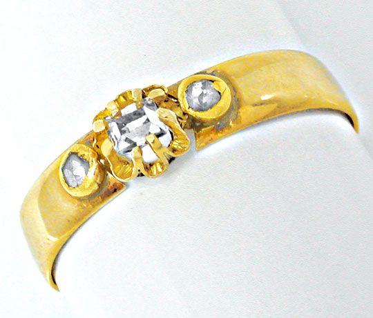 Foto 2, Echt antiker Uralter Diamant-Ring 14K Toperhaltung Shop, S8593