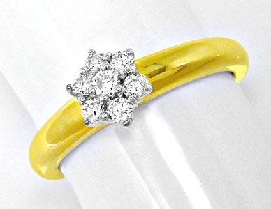 Foto 1, Neu! Top-Moderner Brillant-Ring Bicolor Luxus Portofrei, S8595