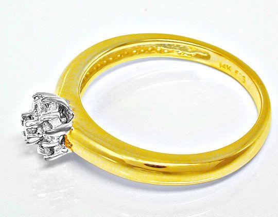 Foto 3, Neu! Top-Moderner Brillant-Ring Bicolor Luxus Portofrei, S8595