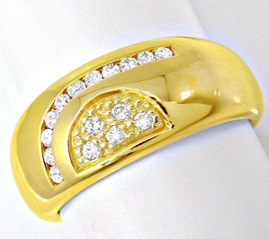 Foto 2, Neu! Topmoderner Designer-Brillant-Ring Luxus Portofrei, S8599