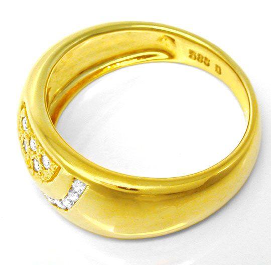 Foto 3, Neu! Topmoderner Designer-Brillant-Ring Luxus Portofrei, S8599