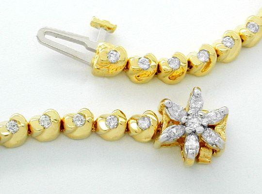 Foto 2, Diamant-Armband 1,02ct Topdesign 14K Bicolor Luxus! Neu, S8600