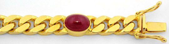 Foto 2, Massives Riesen Rubine Goldarmband Panzerarmband Luxus!, S8605