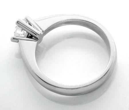 Foto 2, Neu! 1A-Brillant-Solitär-Ring 18K/750 Weissgold! Luxus!, S8618