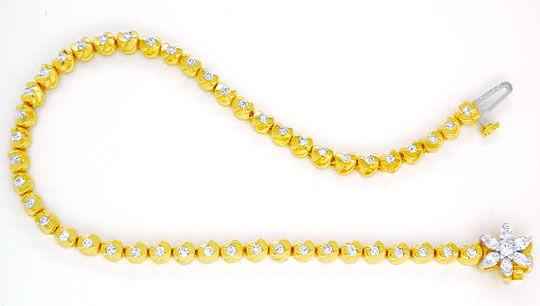 Foto 2, Topdesign-Goldarmband, Diamanten 1,02ct 14Karat Bicolor, S8626