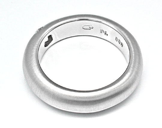Foto 3, Brillant-Spann-Ring River! massiv 15G Platin Luxus! Neu, S8631