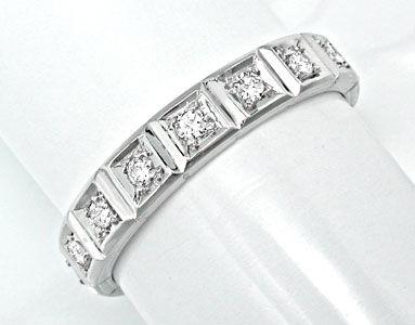 Foto 1, Brillant-Vollmemory-Ring Lupenrein Weissgold Luxus! Neu, S8632