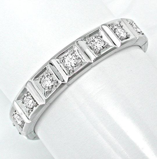 Foto 2, Brillant-Vollmemory-Ring Lupenrein Weissgold Luxus! Neu, S8632