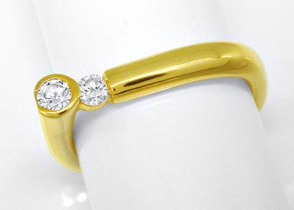 Foto 1, Designer-Brillantring Lupenrein 18K Gelbgold Luxus! Neu, S8635