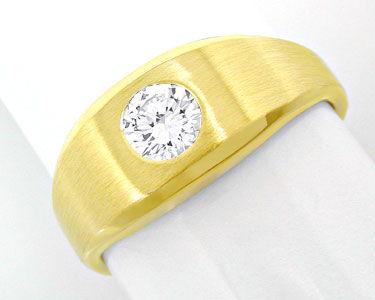 Foto 1, 1A-Brillant-Solitär-Ring 0,38ct 14K Gelbgold Luxus! Neu, S8638