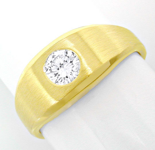Foto 2, 1A Brillant Solitär Ring 0,38ct 14K Gelbgold Luxus! Neu, S8638