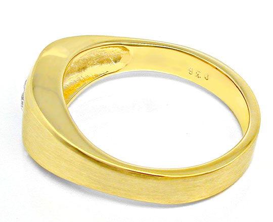 Foto 3, 1A-Brillant-Solitär-Ring 0,38ct 14K Gelbgold Luxus! Neu, S8638
