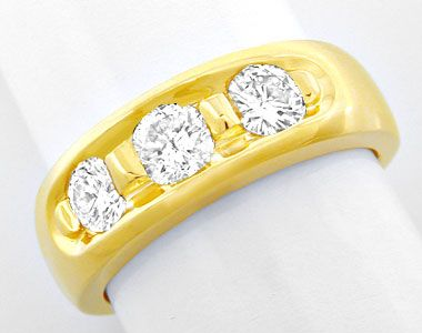 Foto 1, Brillant-Bandring 0.72 extramassiv Gelbgold Luxus! Neu!, S8639