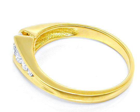 Foto 3, Damen-Brillant-Ring River! 18K/750 Gelbgold Luxus! Neu!, S8641