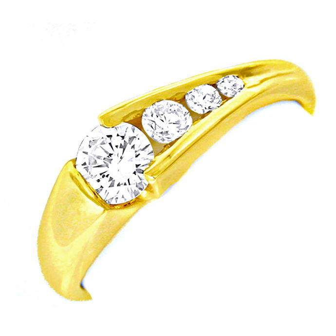 Damen Brillant Ring River! 18K/750 Gelbgold Luxus! Neu!, Designer Ring