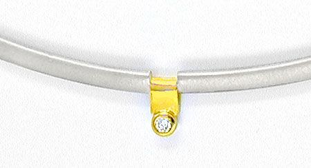Foto 3, Brillant-Gelbgold-Palladium-Kollier Top-Design Shop Neu, S8644