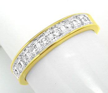 Foto 1, 1A Allianz-Brillant-Ring Halb-Memory 14K/585 Luxus! Neu, S8649
