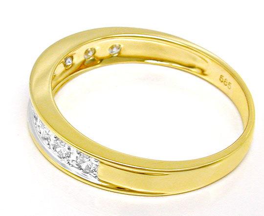 Foto 3, 1A Allianz-Brillant-Ring Halb-Memory 14K/585 Luxus! Neu, S8649