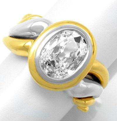 Foto 1, Neu! Traum-Diamant-Ring 1,51ct! 18K Handarbeit! Schmuck, S8651
