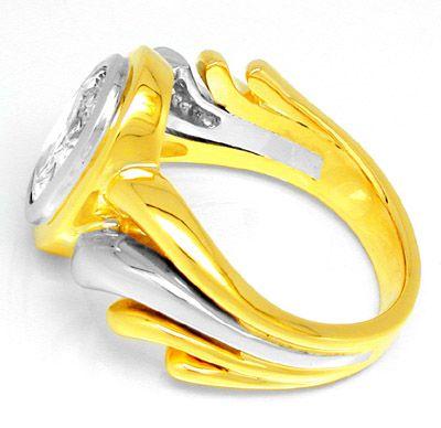 Foto 2, Neu! Traum-Diamant-Ring 1,51ct! 18K Handarbeit! Schmuck, S8651
