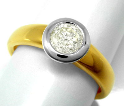 Foto 1, Neu! Brillant Ring 0,73ct! 18K Massiv! Luxus! Portofrei, S8653