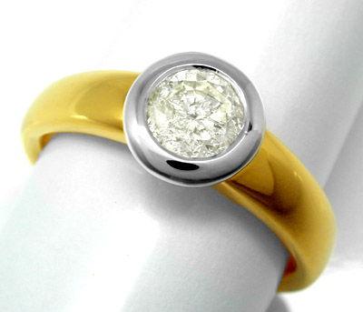 Foto 1, Neu! Brillant-Ring 0,73ct! 18K-Massiv! Luxus! Portofrei, S8653