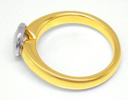 Foto 2, Neu! Brillant-Ring 0,73ct! 18K-Massiv! Luxus! Portofrei, S8653