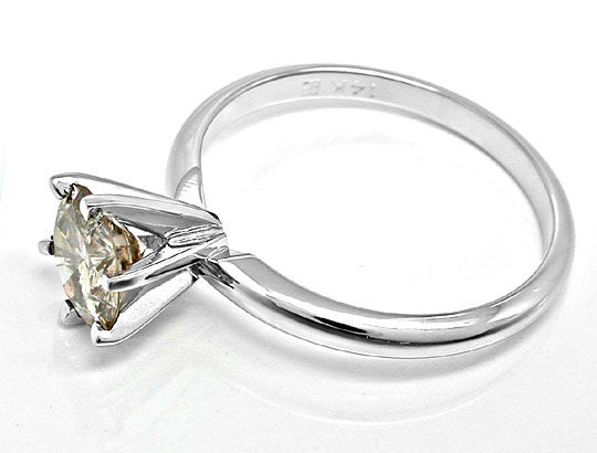 Foto 3, Top Einkaräter-Brillant-Solitär-Ring 1,13ct Luxus! Neu!, S8654