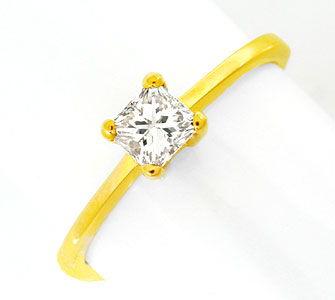 Foto 1, Princess-Diamant Solitär-Ring 0,36 Carat 18K Luxus! Neu, S8655