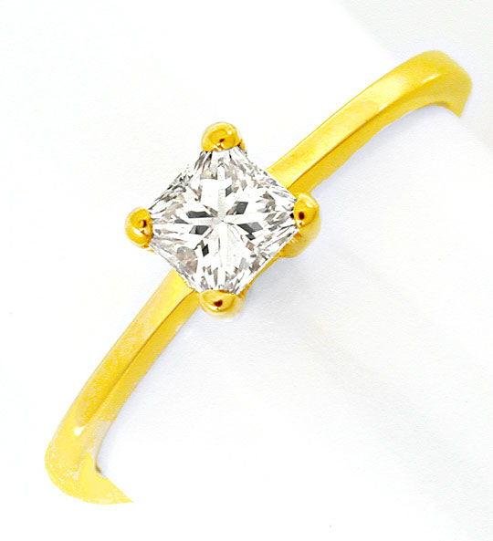 Foto 2, Princess-Diamant Solitär-Ring 0,36 Carat 18K Luxus! Neu, S8655
