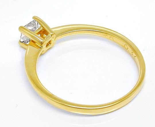 Foto 3, Princess-Diamant Solitär-Ring 0,36 Carat 18K Luxus! Neu, S8655