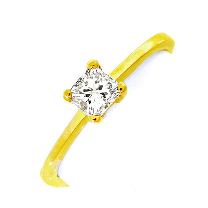 Princess Diamant Solitär Ring 0,36 Carat 18K Luxus! Neu, Designer Ring