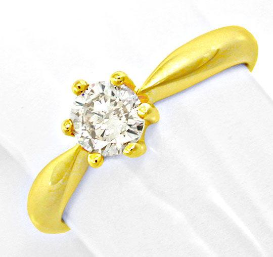 Foto 2, Neu! Solitär-Brillant-Ring, 0.50 Carat Luxus! Portofrei, S8658