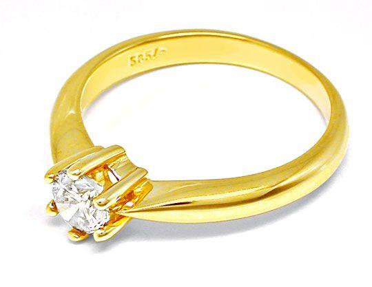 Foto 3, Neu! Solitär-Brillant-Ring, 0.50 Carat Luxus! Portofrei, S8658