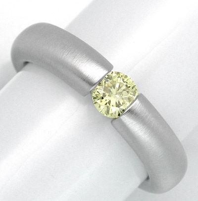Foto 1, Neu! Brillant-Spann-Ring WG Zitron.Gelb Luxus Portofrei, S8665