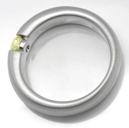 Foto 2, Neu! Brillant-Spann-Ring WG Zitron.Gelb Luxus Portofrei, S8665