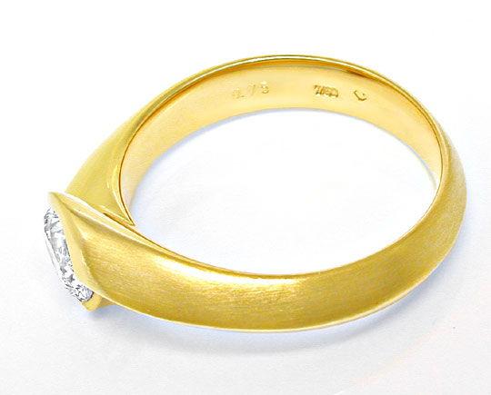 Foto 3, Brillant-Solitär-Ring 0,75ct River! 18K/750 Luxus! Neu!, S8666