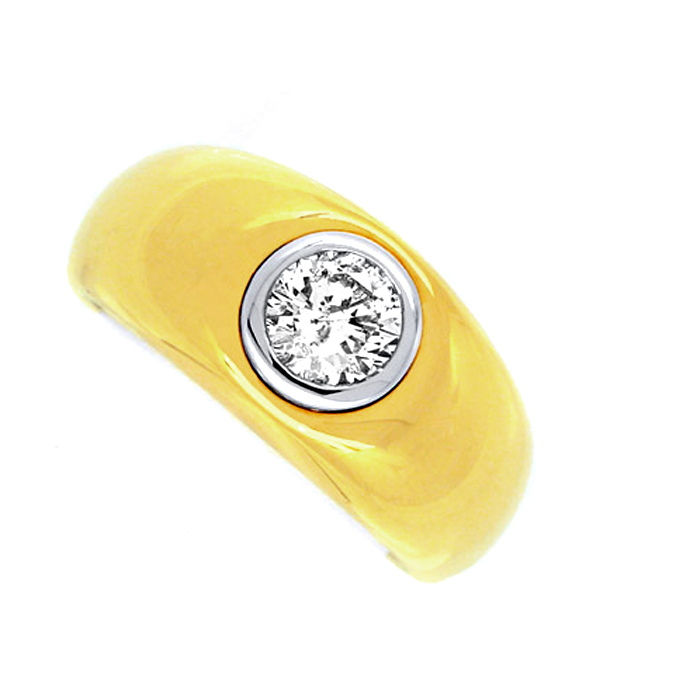 Neu! Brillantring Supermassiv River 18K Bicolor Schmuck, Designer Ring