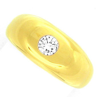 Foto 1, Neu! Brillant Band Ring 18K/750, massiv Luxus Portofrei, S8674