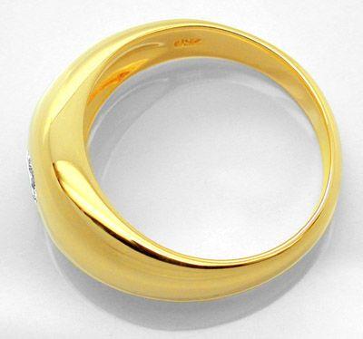 Foto 2, Neu! Brillant-Band-Ring 18K/750, massiv Luxus Portofrei, S8674