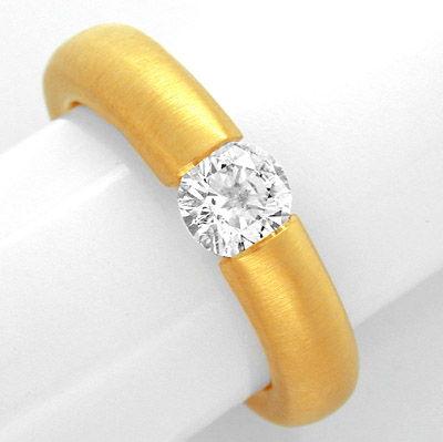 Foto 1, Neu!! Brillant-Spann-Ring 0,67ct 18K GG Luxus Portofrei, S8675