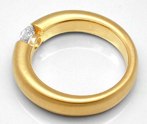 Foto 2, Neu!! Brillant-Spann-Ring 0,67ct 18K GG Luxus Portofrei, S8675