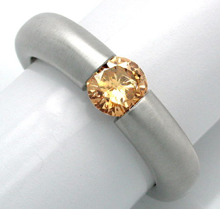 Foto 1, Neu! Brillant Spann Ring Natural Fancy! Luxus Portofrei, S8677