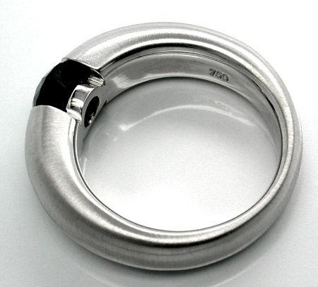 Foto 2, Spann-Ring, Schwarzer Brillant 1,15ct! Luxus! Portofrei, S8678